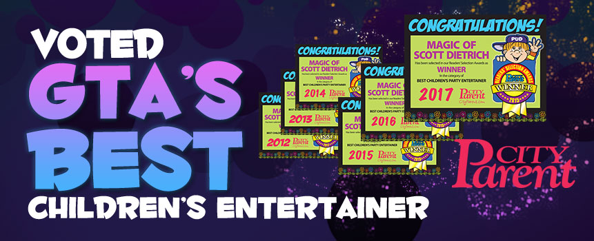 Voted GTA's Best Children's Party Entertainer